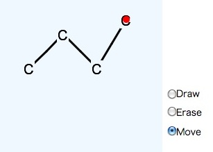 Draw 2D molecule with HTML5 program